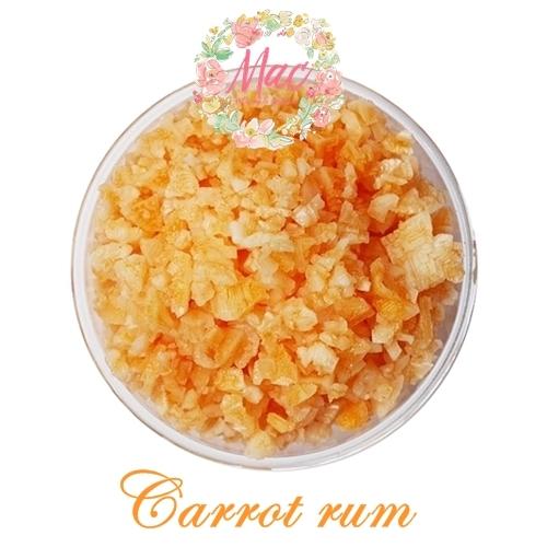ชุด Aroma Bath Salt เกลือแช่ตัว สีเหลือง-ส้ม กลิ่น Carrot rum 1000 กรัม