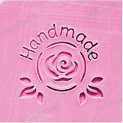 HANDMADE ROSE STAR SOAP STAMP 4.2 x 4.2 CM.