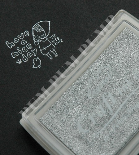 INK PAD สีบอร์นเงิน ขนาด 4 x 6 cm.