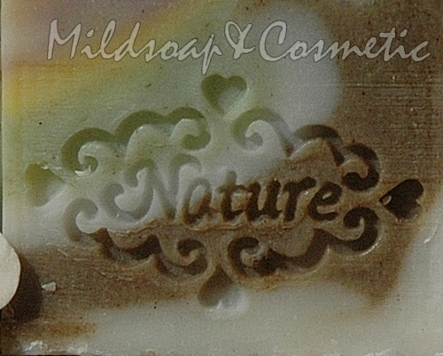 NATURE ROMANCE SOAP STAMP 2.7 X 3.7 CM.