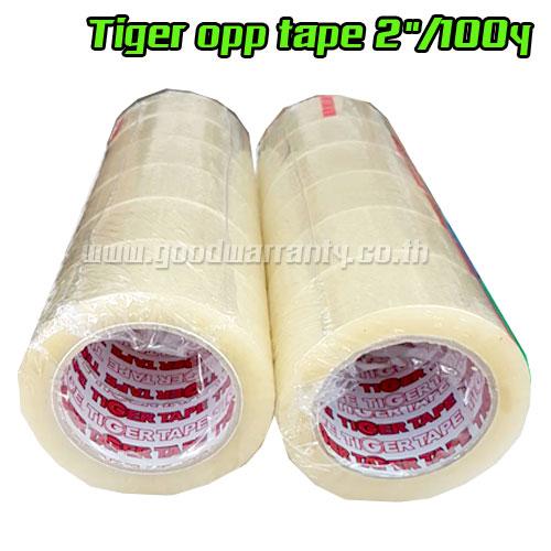 "Tiger OPP ใส Tape 2"" ยาว 100 หลา แพ็ค6 ม้วน"