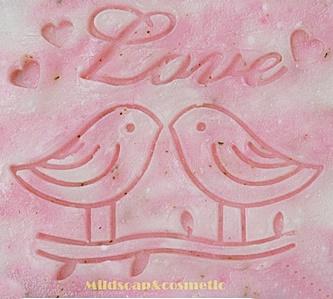 LOVE BIRD SOAP STAMP 4 x 4.5 CM.