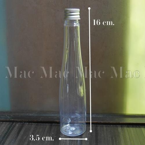 PET 100 ml.ทรงสามเหลี่ยม+ฝาอลูมิเนียม+จุกใน