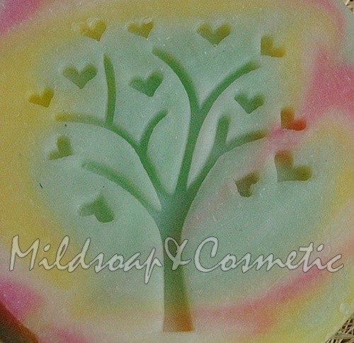 TREE OF LOVE SOAP STAMP 4 X 4.5 CM.