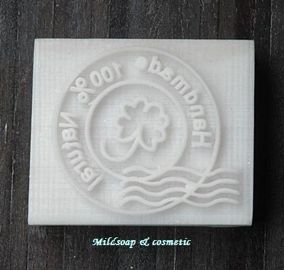 100 % HANDMADE SOAP STAMP 3.4 X 4.5 CM.