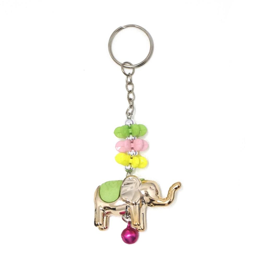 พวงกุญแจช้าง สีเขียวอ่อน(พลาสติก)