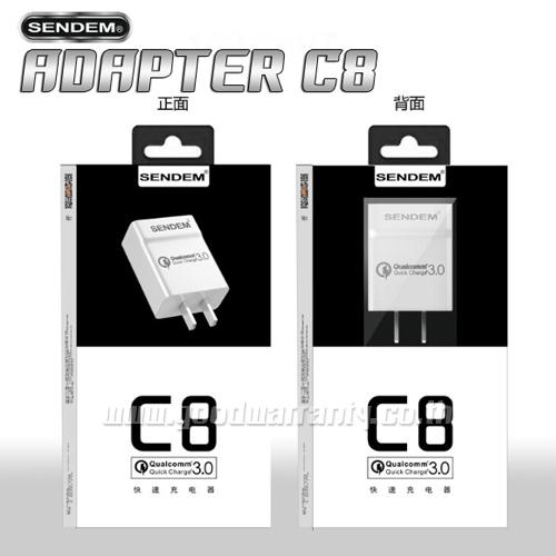 C8 SENDAM ตัวชาร์ท สมาร์ทโฟน ไอโฟน และ แอนดรอยย์ 2.4 แอมป์เต็ม