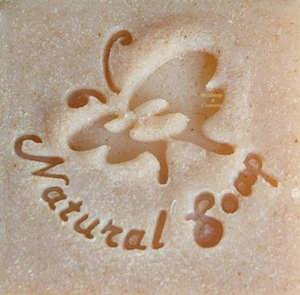 NATURAL BUTTERFLY SOAP STAMP 3.8 x 4.5 CM.