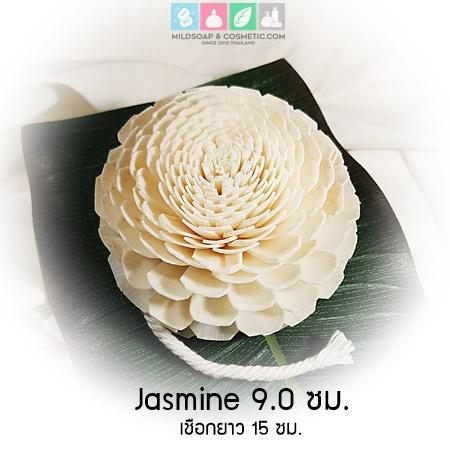 Flower Jamine 9 ซม./ ดอกมะลิ 9 ซม. เชือกฝ้าย 15 ซม.