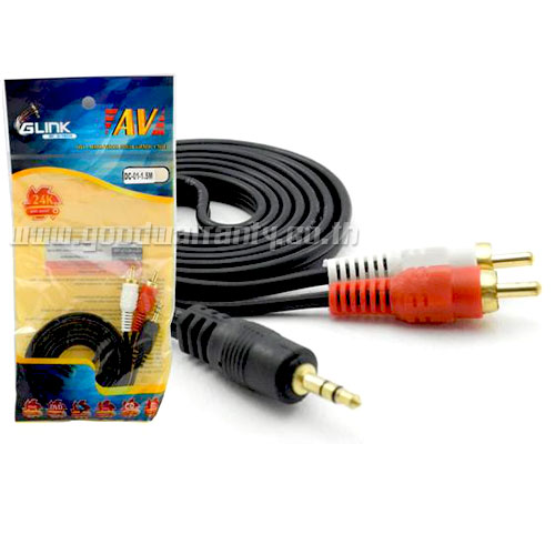 Cable STER-AVx2M 3M GLINK (GLDC-01) หัวทอง