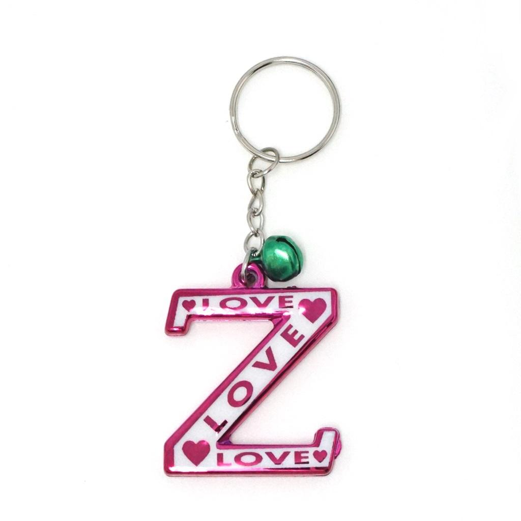พวงกุญแจตัวอักษร Z 12อัน