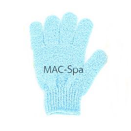 ถุงมืออาบน้ำขัดตัว 1 ข้าง สีฟ้าอ่อน-ฟ้า