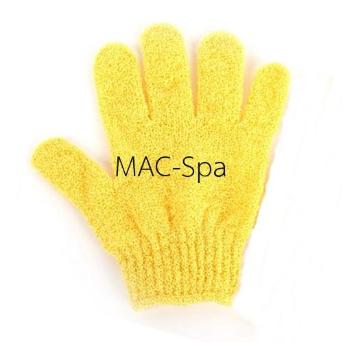 ถุงมืออาบน้ำขัดตัว 1 ข้าง สีเหลือง