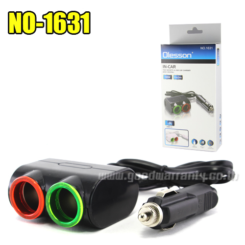 NO.1631 Chargers Car 2ªèͧ USB 1Port 120W/12V/24V