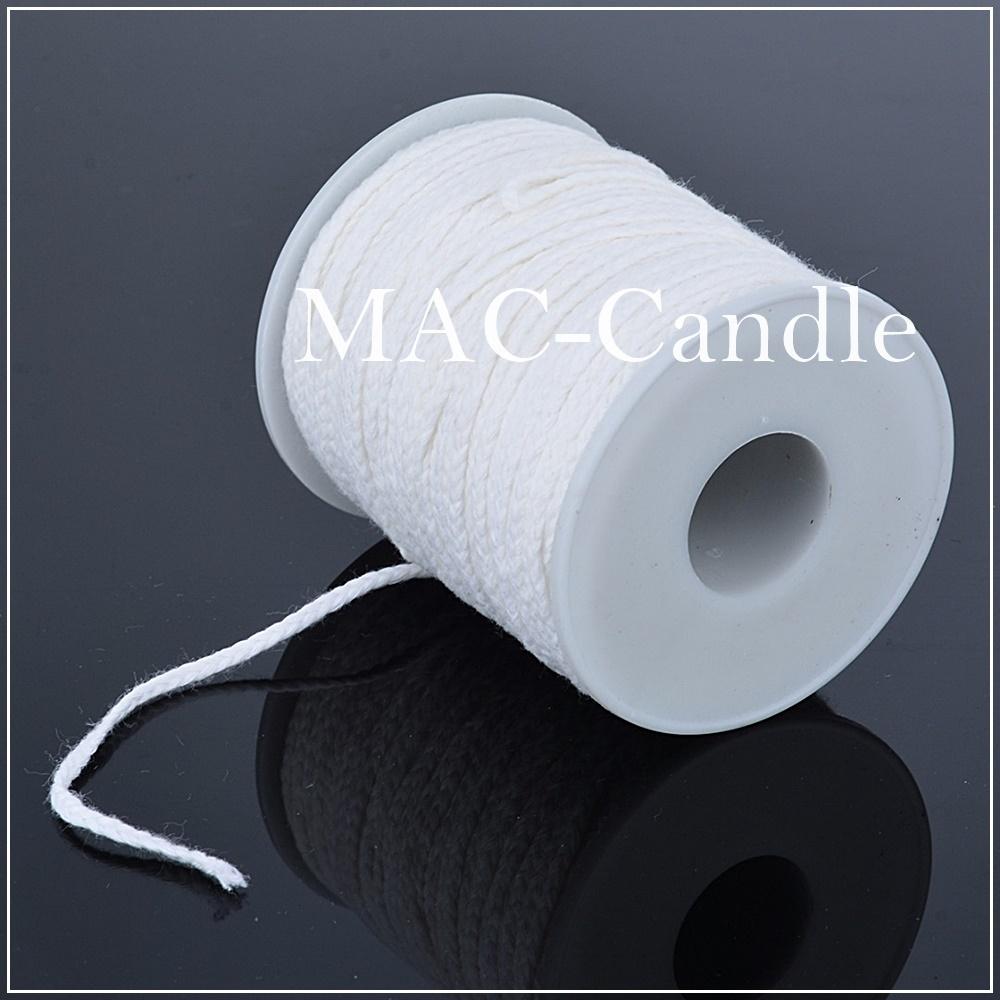 ไส้เทียนผ้าฝ้ายแบน 2.5 มม.ตัดยาว 5 เมตร สีขาว