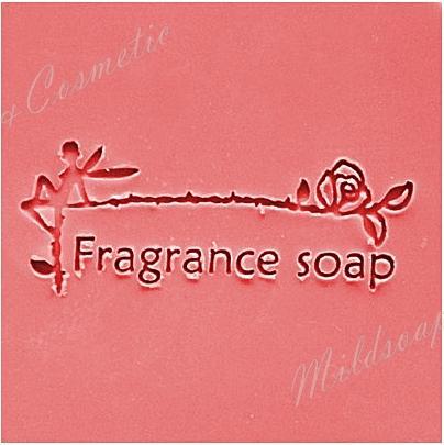 FRAGRANCE ROSE SOAP STAMP 5.2 x 5.2 CM.