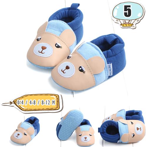 รองเท้าเด็กอ่อน ลายหนู สีน้ำเงิน - Blue cubs