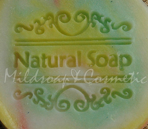 NATURAL VINTAGE SOAP STAMP 4.2 X 4.2 CM.