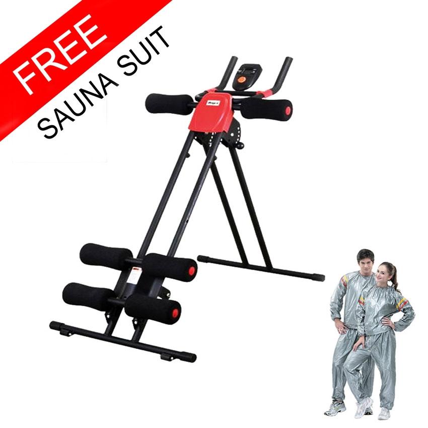 เครื่องบริหารหน้าท้อง 5 min Shaper Power Plank Machine ฟรี ชุดซาวน่ารีดเหงื่อ *** ส่งฟรี
