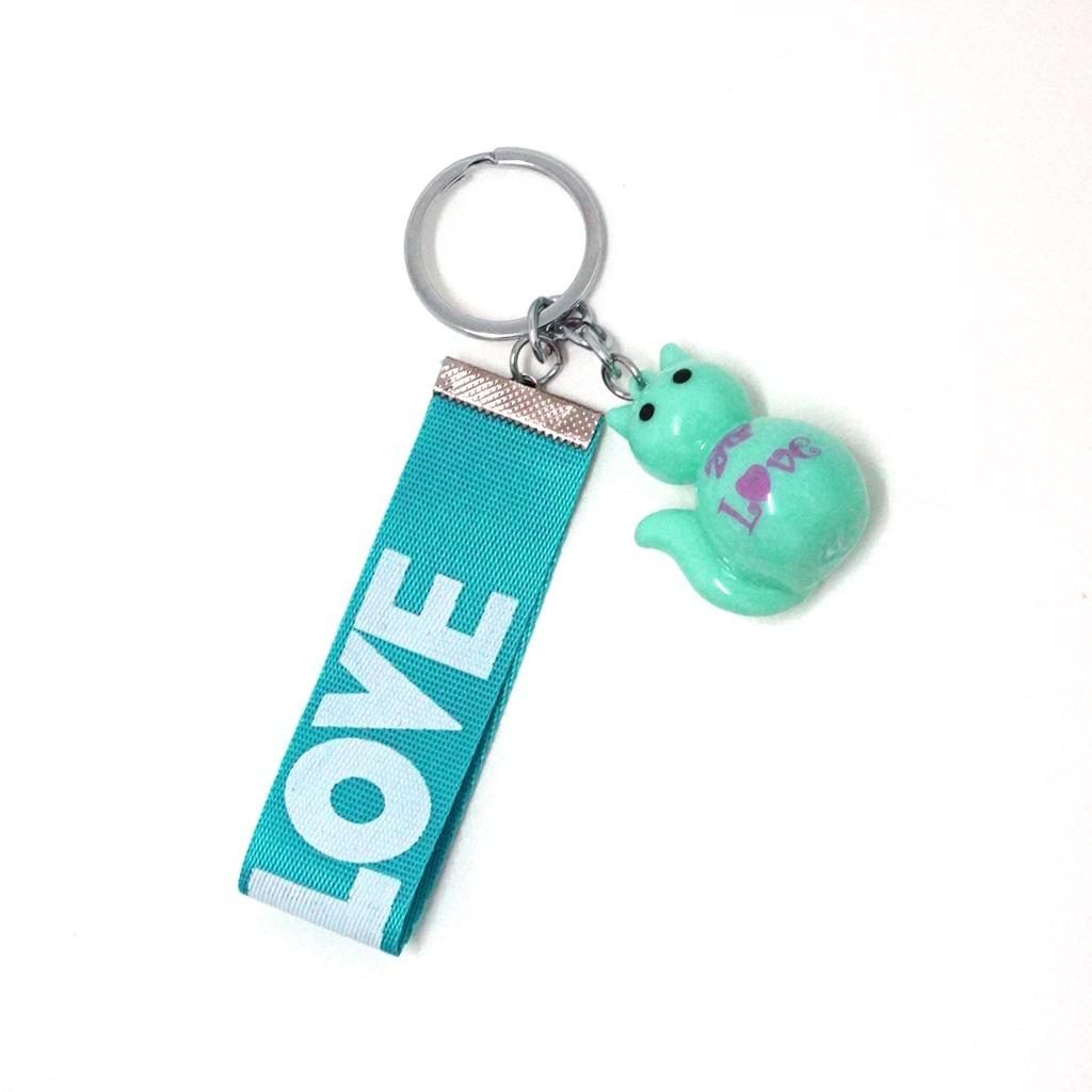 พวงกุญแจห้อยกระเป๋า สายสีฟ้า 12อัน