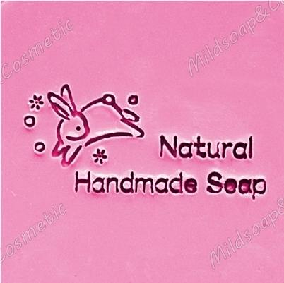 HANDMADE RABBIT NATURAL SOAP STAMP 5.2 x 5.2 CM.
