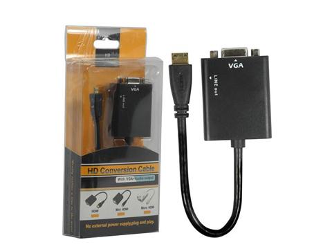 MN052 CABLE VGA (F)TO mini HDMI (M) + SOUND
