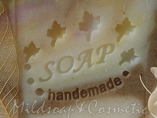 HANDMADE LEAF SOAP STAMP 3.4 X 4.5 CM.