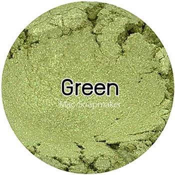 Green mica pearlescent pigment/ สีเขียวประกายมุก /สีผงไมก้า