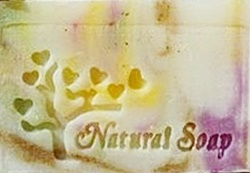NATURAL LOVE SOAP 3.7 X 4.7 CM.