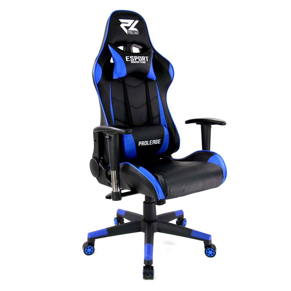 เก้าอี้ เกมมิ่งProleage ERGONOMIC GAMING CHAIR รุ่น PL-101 สีน้ำเงิน
