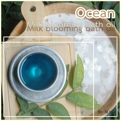 ชุด OCEAN MILK BLOOMING BATH OIL BASE น้ำมันนมใสสำหรับผสมน้ำแช่ตัว 500 G