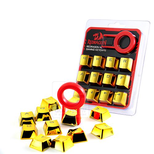 REDRAGON 12 Keycap PBT by GOODWARRANTY METAL COLOR ALL MECHANICAL สีทองโครเมี่ยม