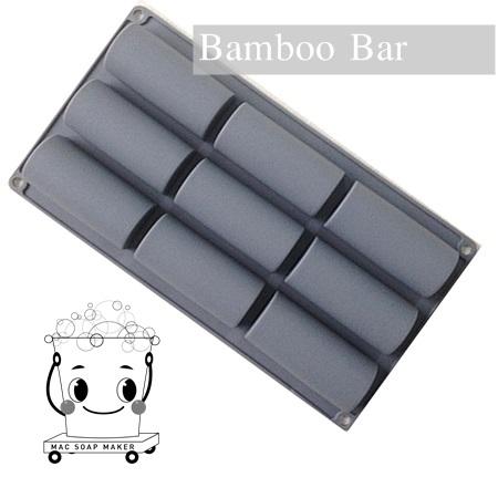 พิมพ์สบู่ซิลิโคน Bamboo Bar/ 4x9x3 ซม. / 90-100 กรัม/ 9 ก้อน