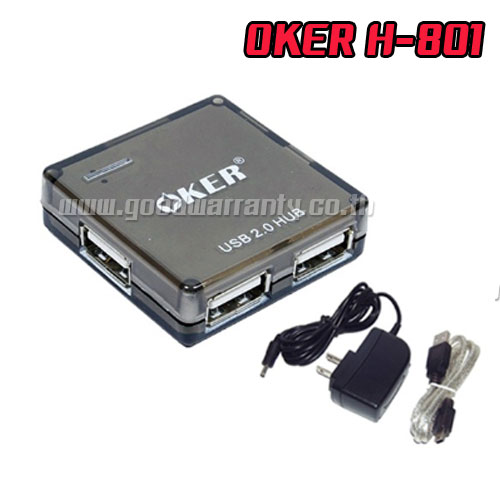 H801 OKER HUB 4 PORT + ADAPTER