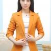 เสื้อสูทแฟชั่น พร้อมส่ง สีส้มอิฐ แขนยาว คอปก คัตติ้งดี งานเนี๊ยบ สวยเหมือนแบบ ติดกระดุมเม็ดเดียวเก๋