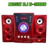 D-918BB BLUETOOTH RED Speaker MUSIC D.J. USB/SD/FM