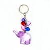 พวงกุญแจคริสตัล ช้าง(สีม่วง) 12อัน