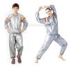 ชุดซาวน่า Sauna suit silver ชุดออกกำลังกายรีดเหงื่อสีเงิน*ส่งฟรี*