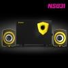 NS031 NUBWO2.1ch Speaker USB สีเหลือง