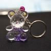 พวงกุญแจคริสตัล หมี(สีม่วง) 12อัน