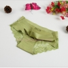 กางเกงในไร้ขอบซีทรูขอบขา สีเขียวขี้ม้า