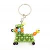 พวงกุญแจลูกปัด หมาน้อย(สีเขียวอ่อน) 12อัน