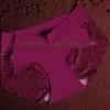 กางเกงในซีทรูขอบขา สีม่วงเข้ม
