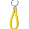 พวงกุญแจ(หนังเทียม)ห้อยกระเป๋า เกลียวสีเหลือง 12อัน