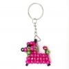 พวงกุญแจลูกปัด หมาน้อย(สีชมพูอมม่วง) 12อัน