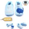 รองเท้าเด็กอ่อน ลายวาฬ สีฟ้า - Blue whale