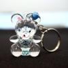 พวงกุญแจคริสตัล หมี(สีฟ้าแบบ2) 12อัน