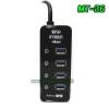MT-26 Magictech HUB USB 4Port USB3.0/2.4A/5Gb สีดำ