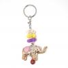 พวงกุญแจช้าง สีชมพู(พลาสติก)