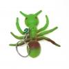 พวงกุญแจยาง แมงมุมสีเขียว